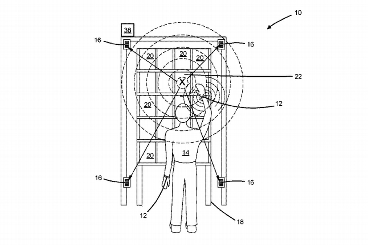 "Patent US 9,881,276B2, Amazon Technologies ""Ultrasonic Bracelet & Receiver for Detecting Position in 2D Plane."""